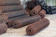 使用的具体倾吐的混凝土 钢绳滤网 免版税库存图片