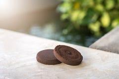 使用的咖啡渣有自然本底 免版税库存照片