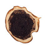 使用的咖啡渣 免版税库存图片