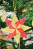 从使用的塑料的圣诞节星 图库摄影