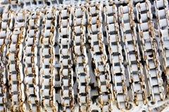 从使用的备件的金属艺术品 免版税库存照片