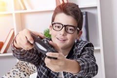 使用的孩子在家 免版税库存图片