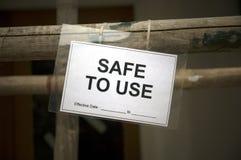使用的安全 免版税库存照片