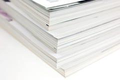 使用的束杂志 免版税库存照片
