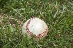 使用的棒球球 免版税库存照片