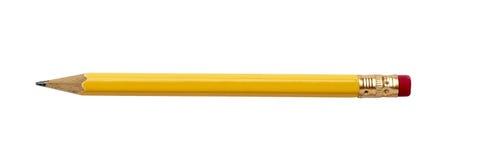 使用的残破的企业教育铅笔 免版税库存照片