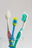 使用的牙刷 免版税库存图片
