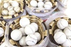使用的球在山墙饰 免版税库存照片