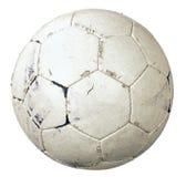 使用的球足球 免版税库存图片