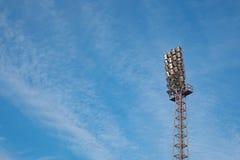 使用的生锈的体育场反射器 免版税库存图片
