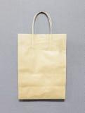 使用的空白回收与拷贝空间的包装纸袋子对输入文本 免版税图库摄影
