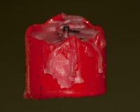 使用的红色蜡烛 库存照片