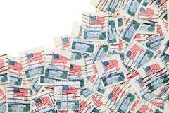 使用的美国邮票 免版税图库摄影