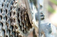 使用的自行车零件 免版税库存图片