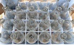 使用的苏打水玻璃瓶 免版税图库摄影