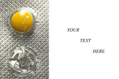使用的药片 免版税库存照片