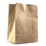 使用的袋子棕色做的纸张 免版税库存照片