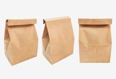 使用的袋子棕色做的纸张 免版税库存图片