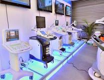 使用的设备高医疗技术 库存图片