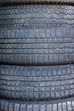 使用的车胎 免版税库存照片