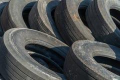 使用的轮胎堆 免版税图库摄影