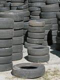 使用的轮胎库存  库存图片