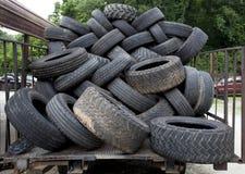 使用的轮胎 免版税库存照片