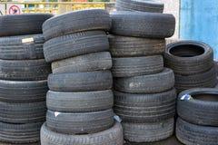 使用的轮胎 库存图片
