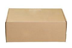 使用的配件箱纸板 免版税库存照片