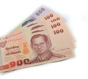 使用的钞票泰国 库存照片