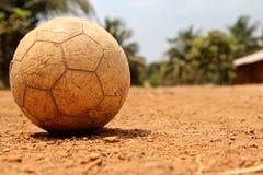使用的非洲足球 免版税库存照片