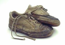 使用的鞋类 免版税库存图片