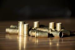 使用的黄铜子弹框 免版税库存图片
