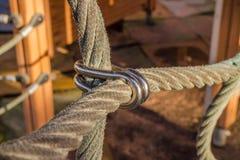 使用的绳索 免版税库存照片