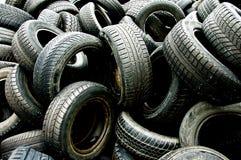 使用的3个轮胎 免版税库存图片