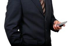 使用移动电话(2)的印第安商人 免版税库存照片