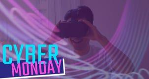 使用虚拟现实耳机4k,网络星期一发短信和人 股票视频