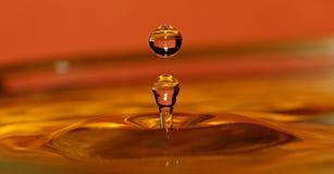 使用水的背景可能的飞溅 免版税图库摄影