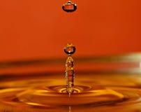 使用水的背景可能的飞溅 免版税库存照片
