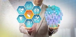 使用AI的管理员在人口健康研究 免版税库存照片