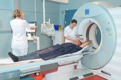 使用angiograph的考试患者 免版税库存图片