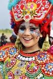 使用carnaval costum的妇女 库存图片