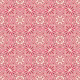 使目炫星开花无缝的样式背景例证在红色和白色口气 皇族释放例证