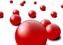使红色有大理石花纹 免版税库存照片