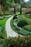 使维多利亚环境美化的BC庭院 免版税库存照片