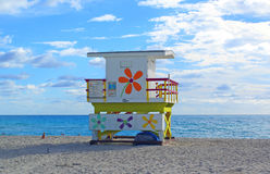 使美丽的迈阿密靠岸 免版税库存照片