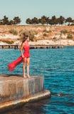 使舞蹈演员编辑可能的eps充分的夏威夷hula性感的妇女靠岸 图库摄影
