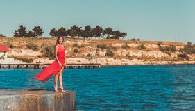 使舞蹈演员编辑可能的eps充分的夏威夷hula性感的妇女靠岸 库存照片