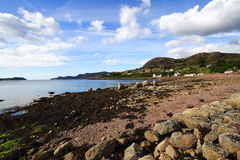 使苏格兰靠岸 免版税库存照片