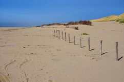 使荒凉的海滩 免版税图库摄影